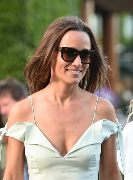 La semaine suivante, c'est sa soeur Pippa qui faisait une apparition dans les allées du tournoi londonien