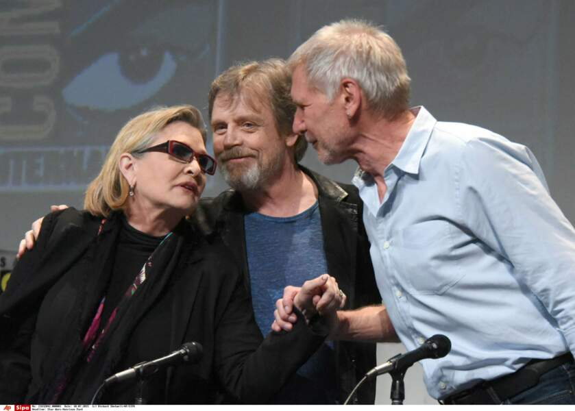 Présentation du Réveil de la Force lors du Comic-Con de San Diego en 2015, avec Mark Hamill et Harrison Ford