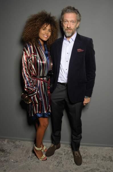 On les adore : Vincent Cassel et la top-model Tina Kunakey.