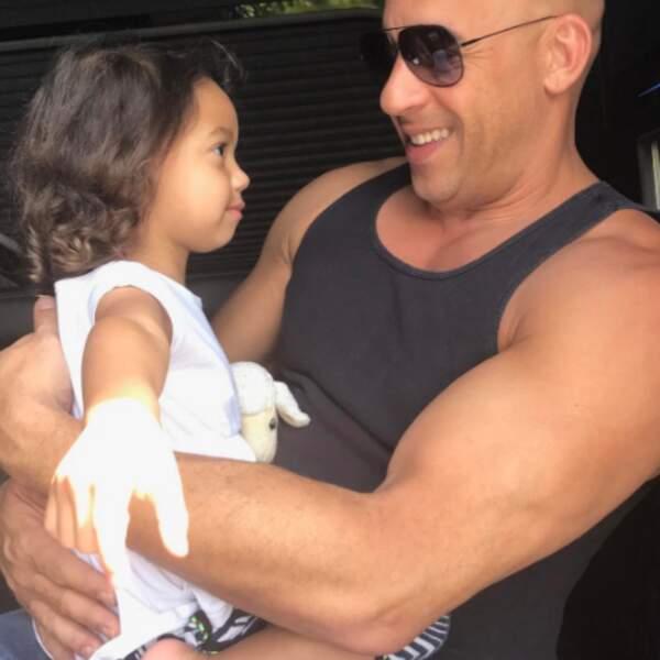 Trop mignons : Vin Diesel et sa fille Pauline.