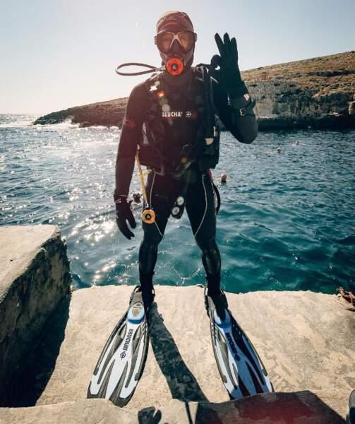 Plongée à Malte pour le DJ Steve Aoki.