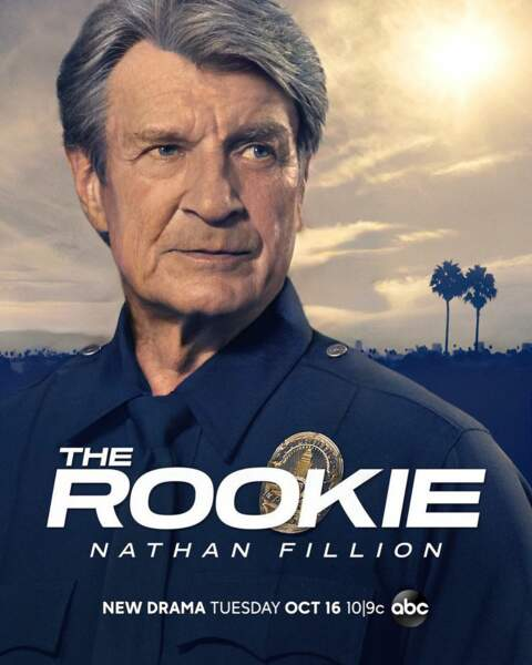 Nathan Fillion nous propose une affiche de la saison 26 de The Rookie.