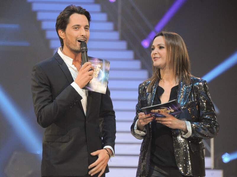 Vincent Cerutti et Sandrine Quétier à la première de la tournée Danse avec les stars à Bercy