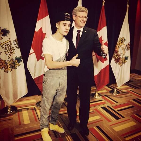 La tenue de Justin Bieber rencontrant le Premier ministre canadien... #nocomment