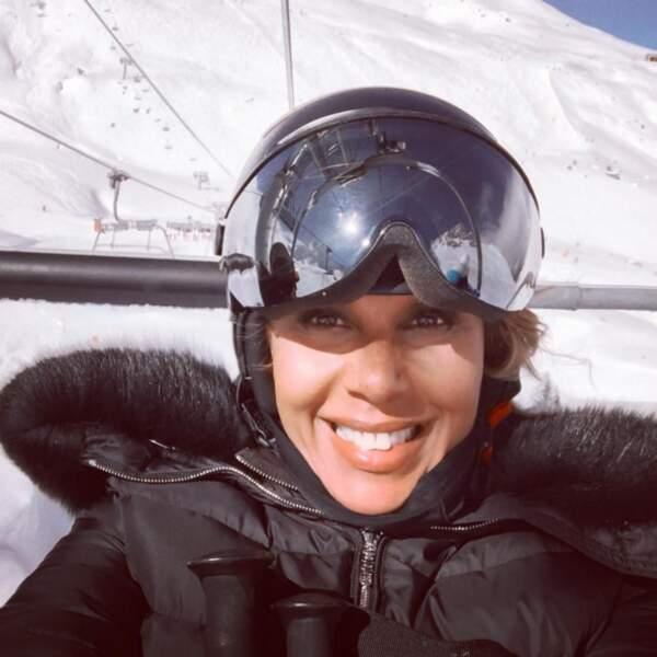 Pendant ce temps-là, Cathy Guetta est au ski.