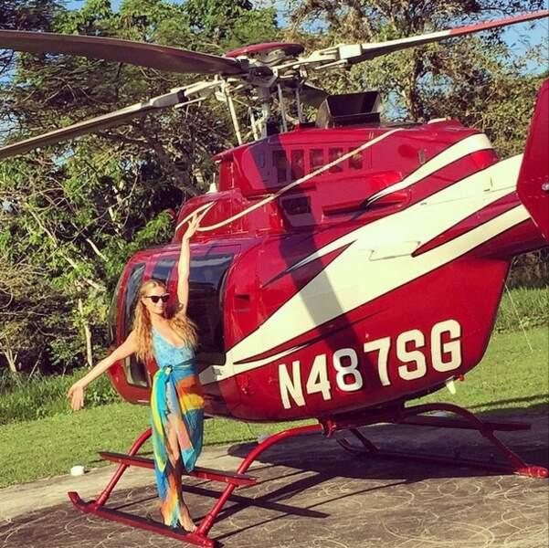 Elle a fait de l'hélicoptère,