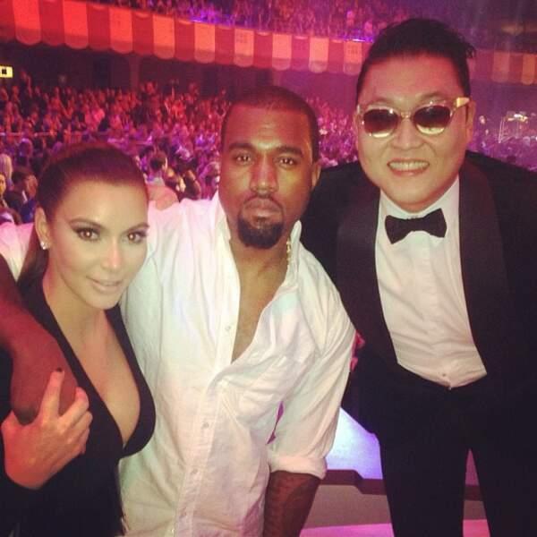 Kim, Kanye, Psy: trois possibilités...