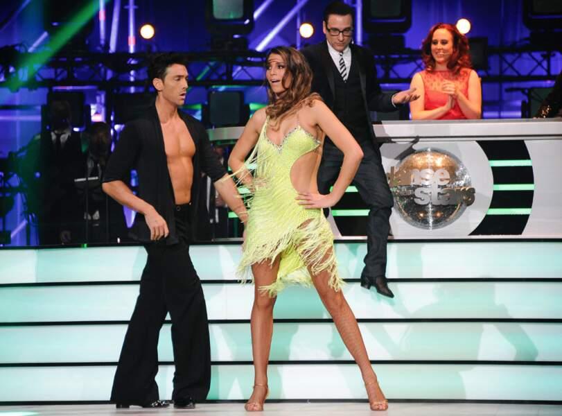 Laury Thilleman et Maxime Dereymez à la première de la tournée Danse avec les stars à Bercy
