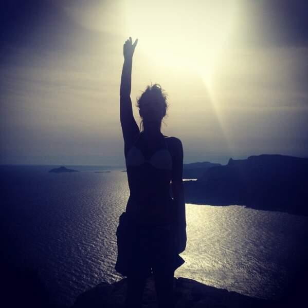L'actrice aime aussi le soleil et les vacances !