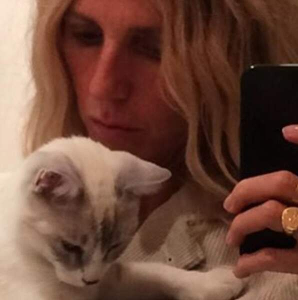 Le gros bébé de Sandrine Kiberlain : Yvonne, son chat.