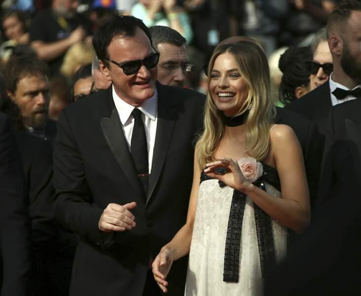 Quentin Tarantino a toujours le mot pour faire rire Margot Robbie