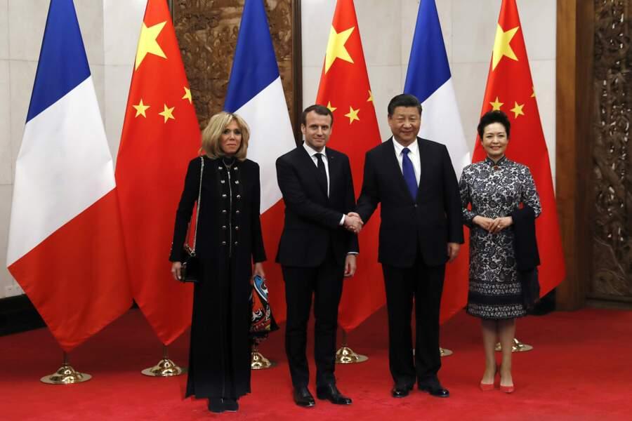 Le Président a ensuite rencontré son homologue chinois Xi Jinping
