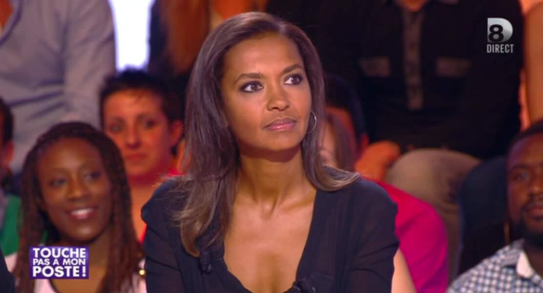 """Dans la catégorie """"bouh la copieuse !"""" : ... et Karine Le Marchand, qui arborait sur le plateau un haut similaire"""