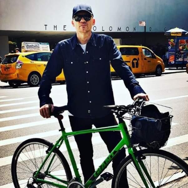 Gaëtan Roussel faisait du vélo à New York.