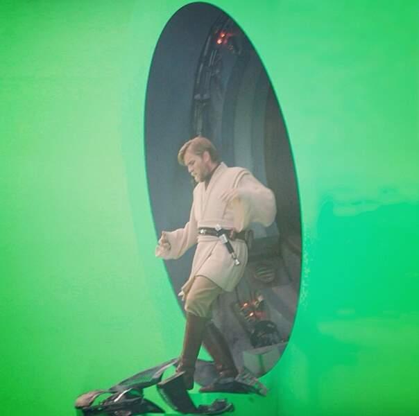 Ewan Mc Gregor alias Obi Wan Kenobi en pleine action