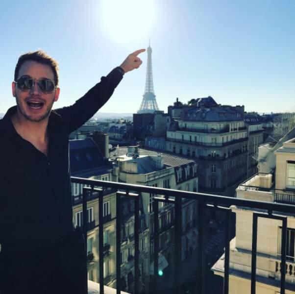 Paris était clairement The Place To Be ces derniers jours. Et Chris Pratt ne dira pas le contraire !