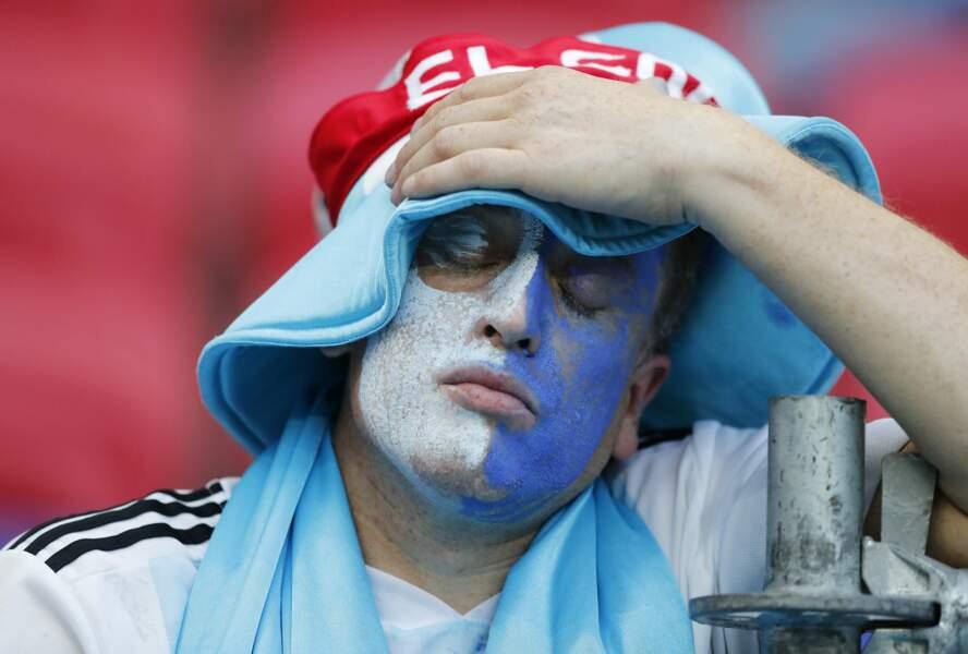 Les supporteurs argentins déchantent. Ils vont devoir rentrer à la maison.