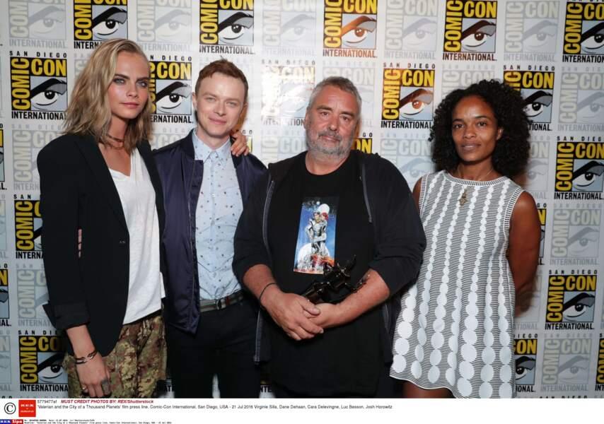 Luc Besson est venu parler de son film VALERIAN avec ses acteurs et son épouse