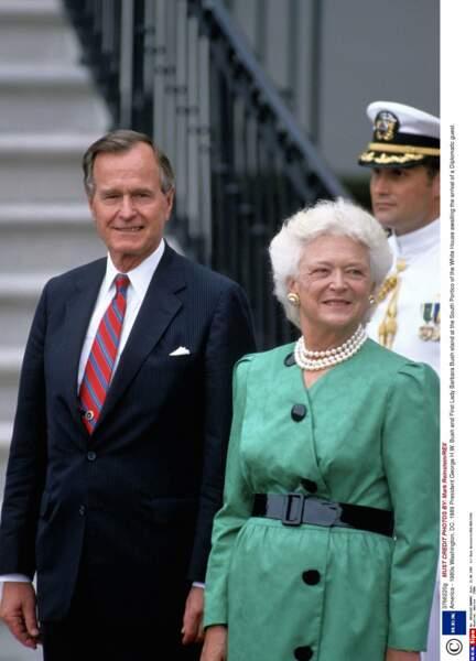 Barbara Bush, First lady de 1989 à 1993, était connue pour ses recettes de cookies et sa cuisine familiale