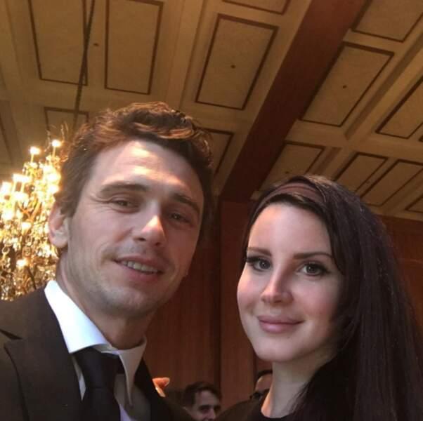 On passe maintenant aux rencontres people : Lana del Rey et James Franco.