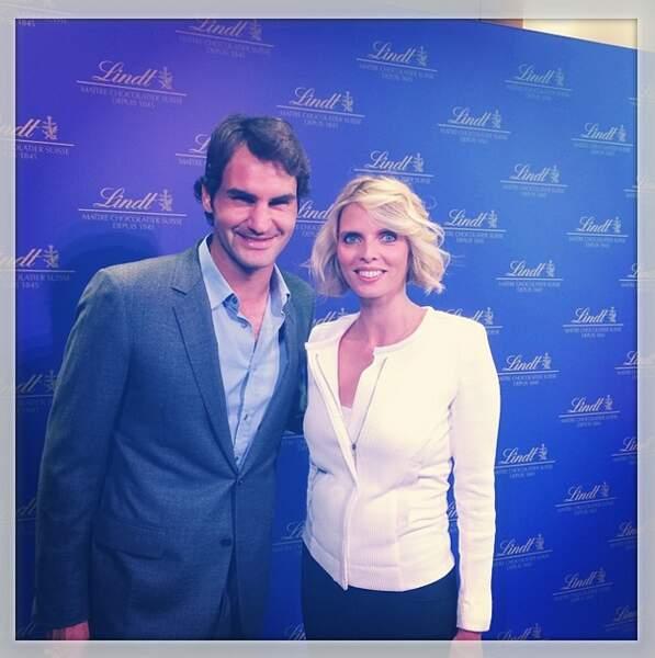 Sylvie Tellier est doublement chanceuse. Elle a rencontré Roger Federer...