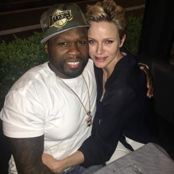 Improbable : 50 Cent a fait un gros câlin à Charlène de Monaco...
