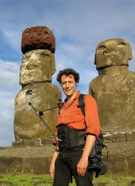 Autre veinard : Antoine de Maximy, ici sur l'île de Pâques (Chili)
