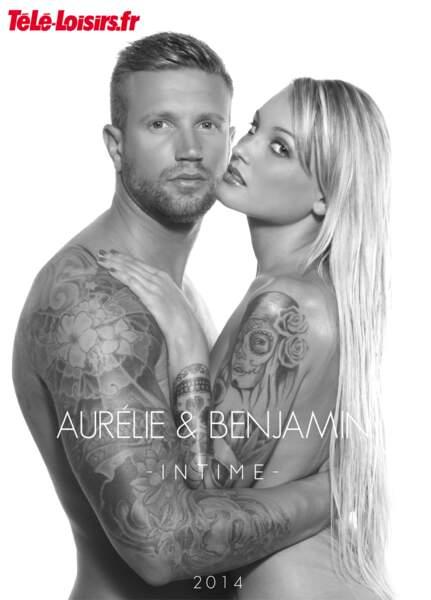 Aurélie et Benjamin dans une jolie photo en noir et blanc