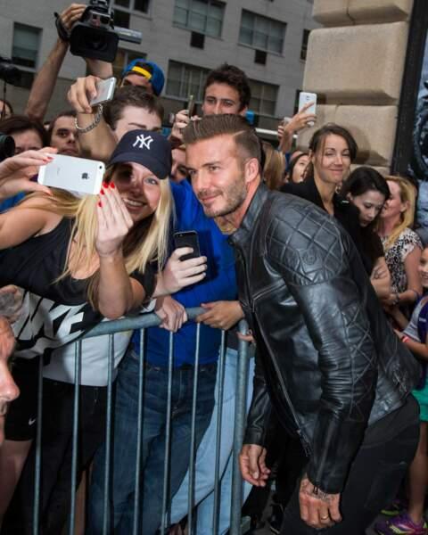 Quelques chanceuses en compagnie de David Beckham !