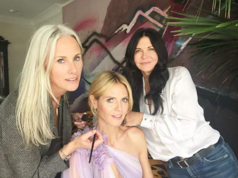 Heidi Klum ne laisse rien au hasard et a convoqué son armée de maquilleuses pour être au top !