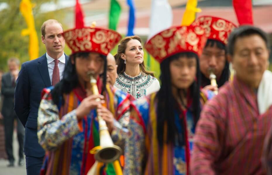 Au Bhoutan, Kate et William vont visiter un temple