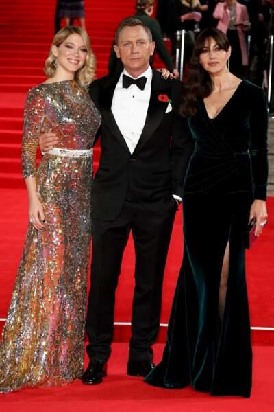 Un trio resplendissant lors de l'avant-première du film à Londres !