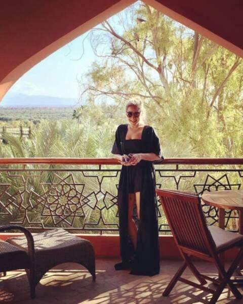 Et Marilou Berry était tout sourire à Marrakech (on la comprend).