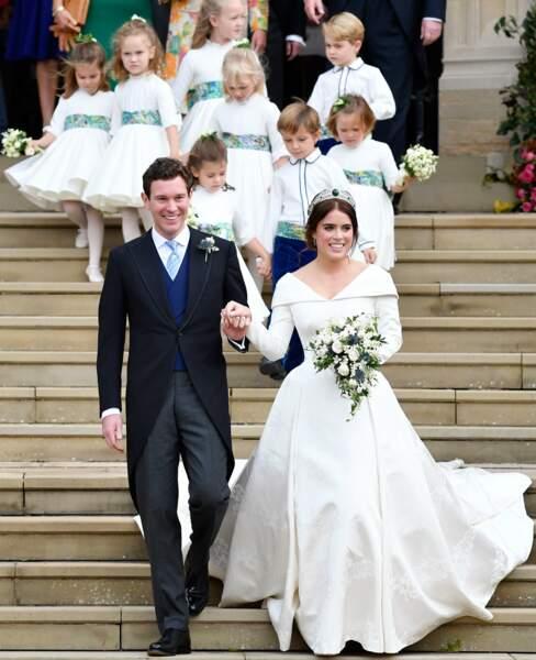 La princesse Eugenie et son époux Jack Brooksbank