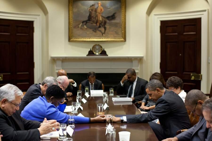 Quand l'heure est grave, Barack Obama sait aussi se montrer compréhensifs avec ses collaborateurs