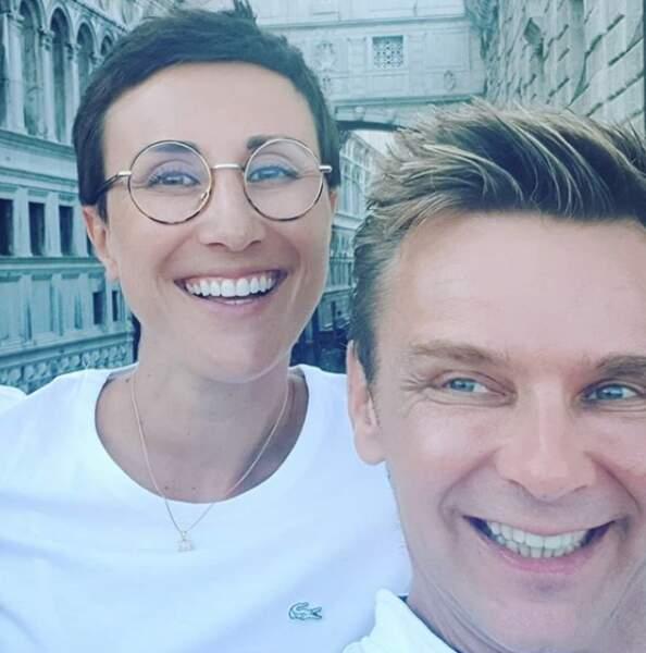 Selfie pour jean-Fi et son amie, la comédienne Noémie Caillault