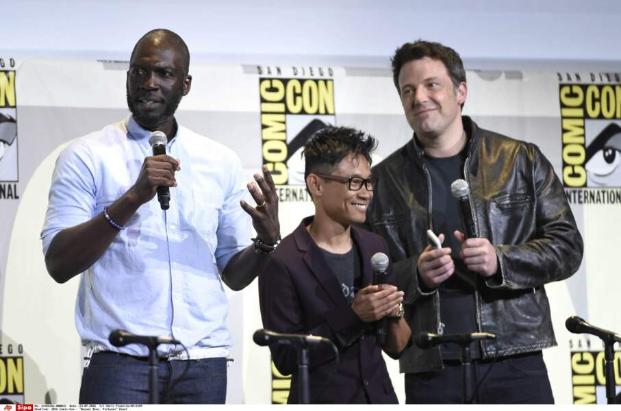 Le réalisateur Rick Famuyiwa, le (petit) réalisateur James Wan et Ben Affleck