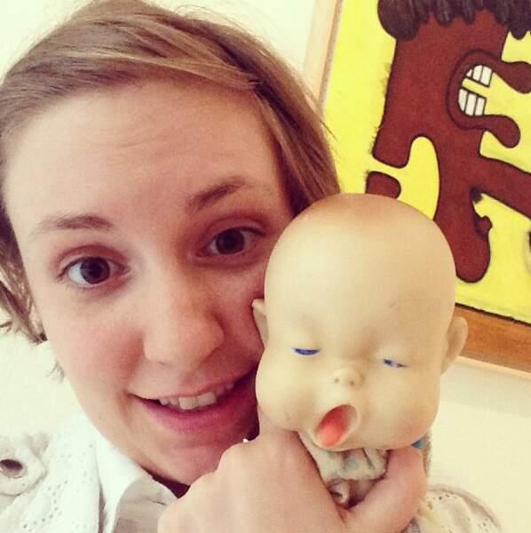 Lena Dunham, elle, est venue avec le bébé le plus bizarre du monde