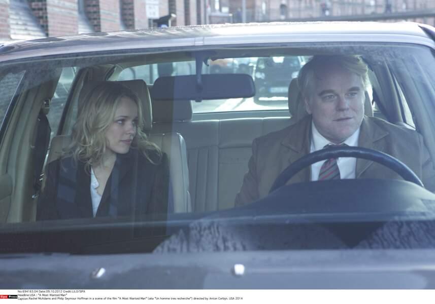 """Avec Rachel McAdams dans """"Un homme très recherché"""" (2014)"""