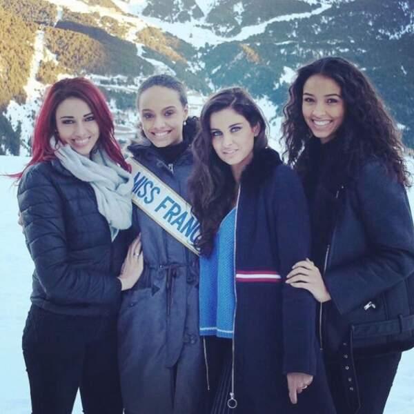 Delphine Wespiser, Flora Coquerel et Malika Ménard ont rejoint Miss France