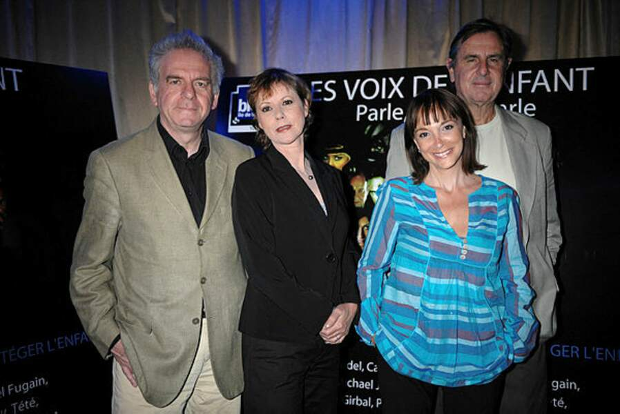 Avec Dorothée, Jacky et Patrick Simpson-Jones en 2008
