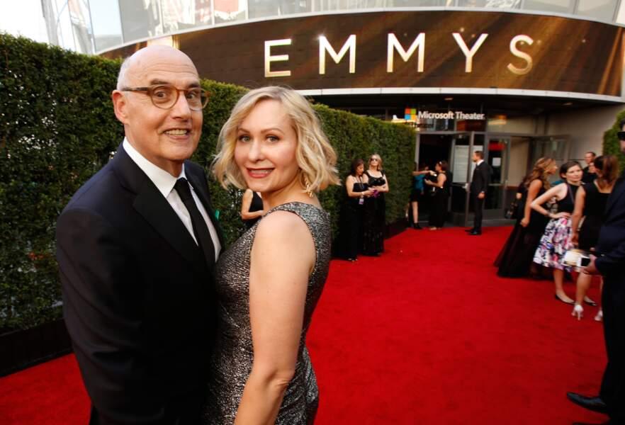 Jeffrey Tambor, récompensé pour son rôle dans Transpararent, et sa femme Kasia Ostlun