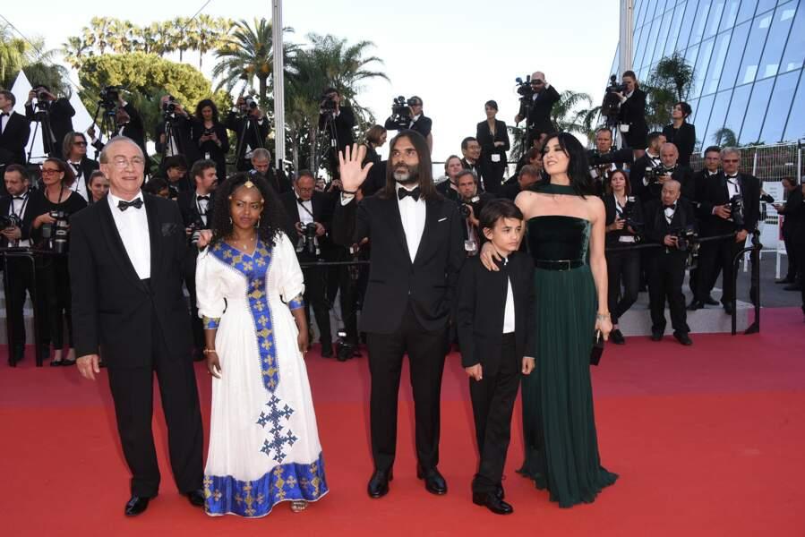 L'équipe du film Capharnaüm autour de la réalisatrice Nadine Labaki