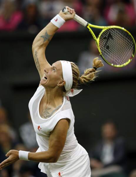 Svetlana Kuznetsova, c'est un peu la Madame tatouage du circuit féminin