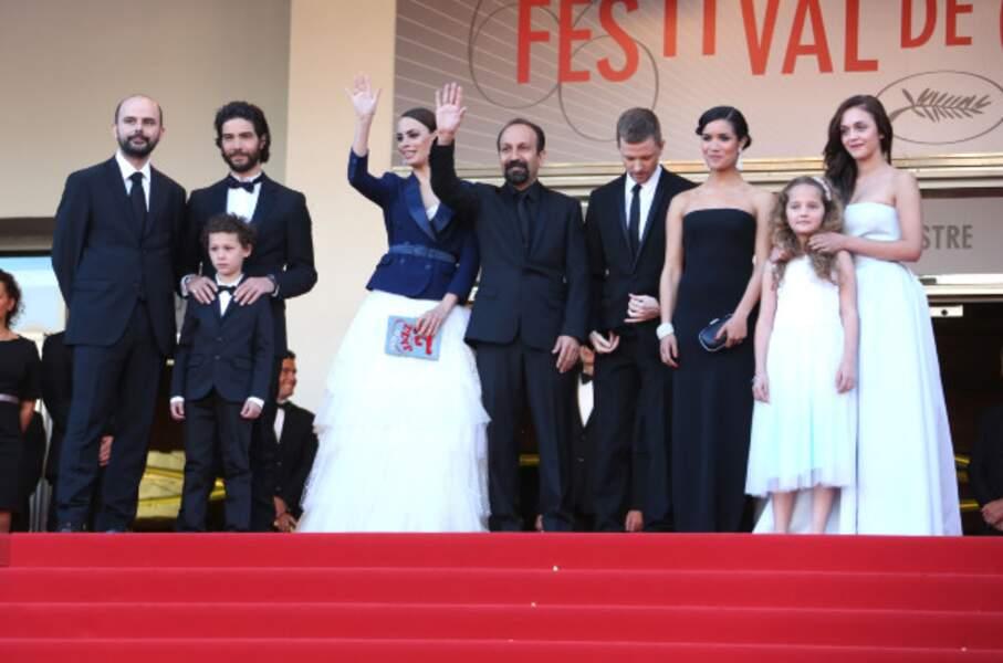L'équipe du film de Asghar Farhadi en mode famille princière