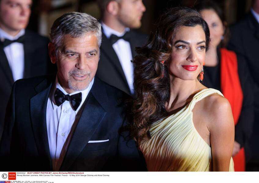 """George Clooney et Amal Clooney, ZE couple glamour cette édition, ici à la première de """"Money Monster"""""""