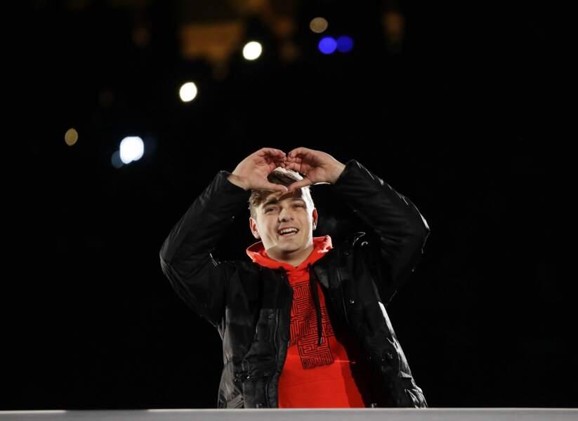 Le DJ Martin Garrix est venu mixer pour ambiancer la Cérémonie de Clôture