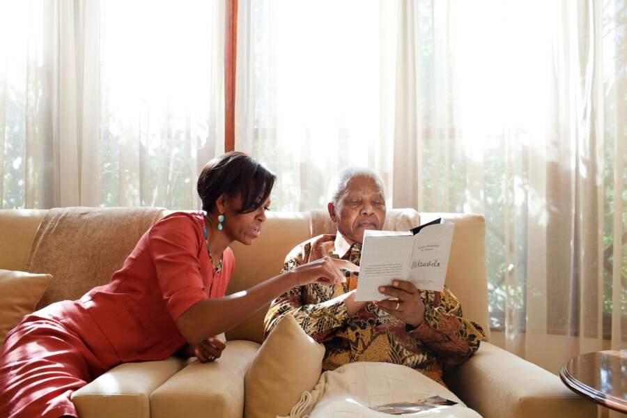 21 juin 2011 : Michelle Obama accueille Nelson Mandela à Washington