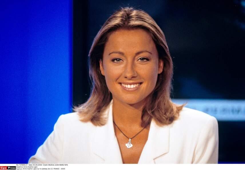 Anne-Sophie Lapix sur LCI en 2000