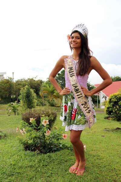 Et voici la belle Vaimiti Teiefitu, Miss Tahiti 2015